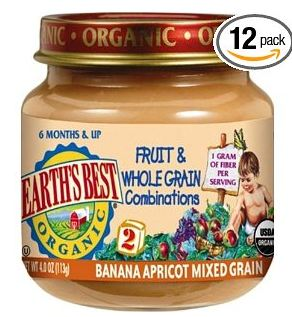 Earths Best Organic 2nd Fruit and Whole Grain Combo