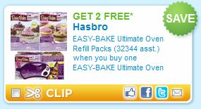 Easy Bake Oven Refill Packs Printable Coupon