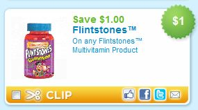 Flintstones Multivitamin Product Printable Coupon
