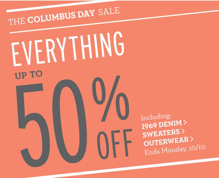 Gap Columbus Day Sale up to 50 Off