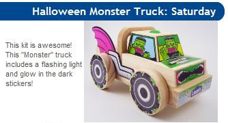 Lowes free Build and Grow Clinic Halloween Monster Truck