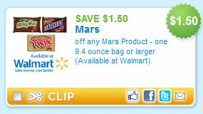 Mars Halloween Candy Printable Coupons