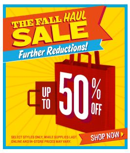 Old Navy Fall Haul Sale and 25 off promo code