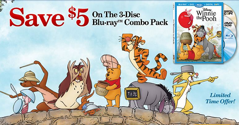 Save 5 on Winnie the Pooh Blu-ray Combo Pack