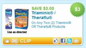 Triaminic and Theraflu Printable Coupons