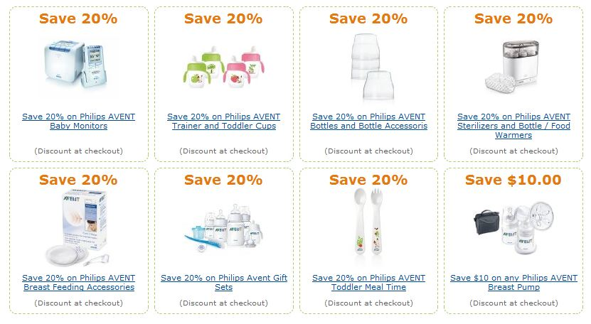 Amazon AVENT coupons and deals
