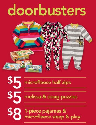 Carters Black Friday Deals and Doorbusters