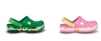 Crocband Kids Dino Camo and Crocband Tropic Flower now only 19.99