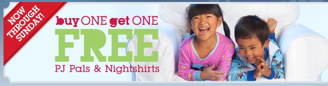 Disney Store Buy 1 Get 1 Free Pjs plus 8 Cash Back