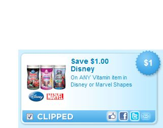 Disney or Marvel Vitamins Printable Coupon