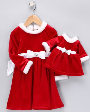 Dollie and Me Red Santa Dress & Doll Outfit