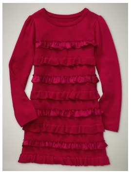 Gap Black Friday Event Ruffled sweater dress