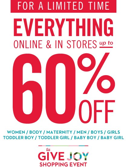 Gap Black Friday Give Joy Shopping Event up to 60 off Everything
