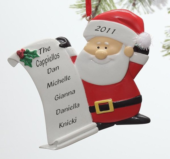Personalized Santa Claus Christmas Ornament