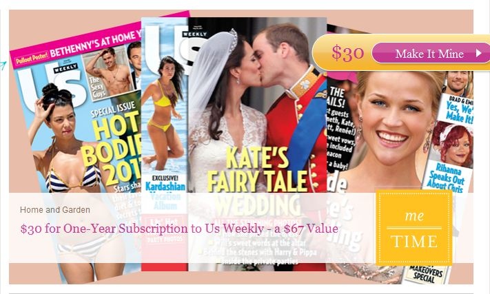Plum District Us Weekly magazine subscription deal