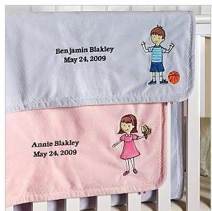 RedEnvelope Personalized Baby Blanket