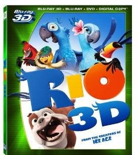 Rio 3D Bluray DVD Combo