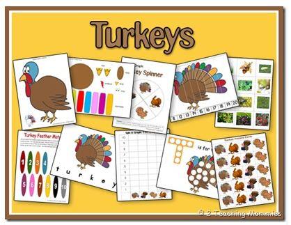 Two Free Thanksgiving Educational Printables