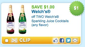Welches Sparkling Juice Cocktails printable coupon