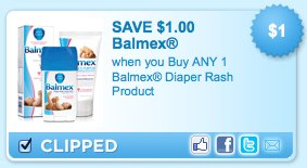 Balmex Diaper Rash Product Printable Coupon