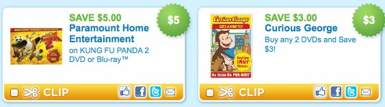 Chidren's Movie DVDs Blu-rays Printable Coupons