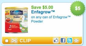 Enfagrow Printable Coupon and Walgreens Deal