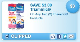 Triaminic Printable Coupons