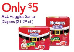 Huggies Santa Diapers Only $5!