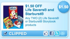 Lifesavers and Starburst Storybook products printable Coupons