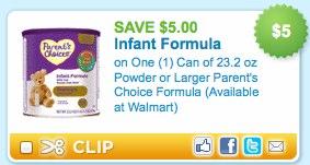 Parent's Choice Infant Formula Prinable Coupon