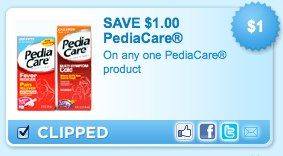 PediaCare Product Printable Coupon