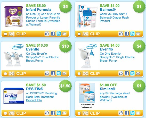 Printable Baby Coupons Similac Parent_s Choice Evenflo Desitin