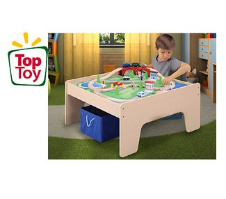Walmart Toy Deals Activity Table with Train Set and Storage Bin