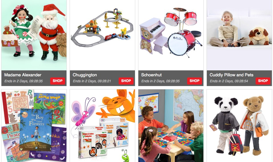 Totsy Sales Madame Alexander, Schoenut, Chuggington, Melissa & Doug and More