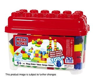 Walmart.com Value of the Day Mega Bloks 100-Piece Value Bucket_ Building Blocks & Sets