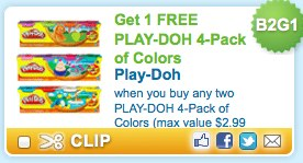 Buy 2 get 1 free Play-Doh