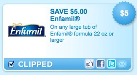 Enfamil Printable Coupon It's Back!