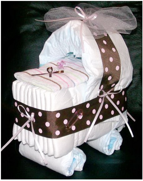Baby Gift Ideas Using Diapers : Shower ideas diapers baby gifts
