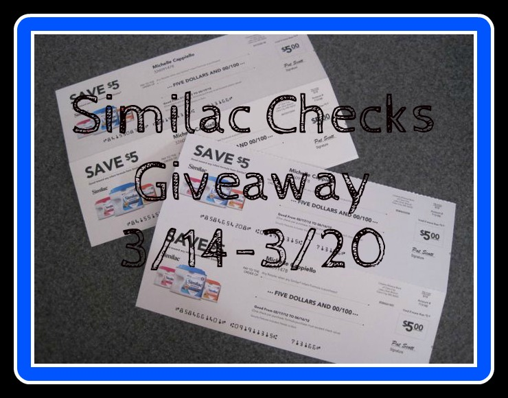 Similac Cheques http://babycouponsandstuff.com/2012/03/14/sign-up-for-similac-checks-plus-4-5-checks-giveaway/