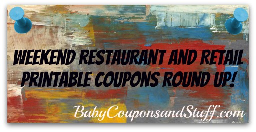 Restaurant and Retail Printable Coupons