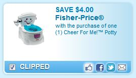 Cheer for Me Potty Printable Coupon