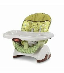 Fisher price spacesaver high chair and musical activity for Chaise haute fisher price