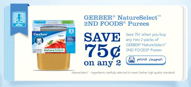 Printable Gerber® Coupons. Gerber® ANYTHING FOR BABY™ Make Every Little Bite Count. Anything for Baby: The NEW Gerber. Trace it Back to Here for Baby #Anythingforbaby. Local Green Beans Grown for Baby #Anythingforbaby. Gerber Grown + Mom #Anythingforbaby + SAVE $