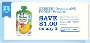 Gerber Organic 2nd Foods Printable Coupon
