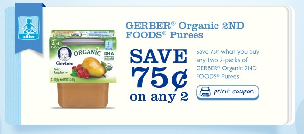 Gerber Organic 2nd Foods Puree Printable Coupon