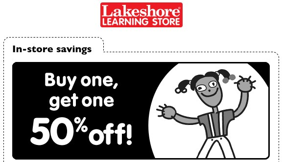 Lakeshore Learning Store Buy Get One 50 Off Printable Coupon
