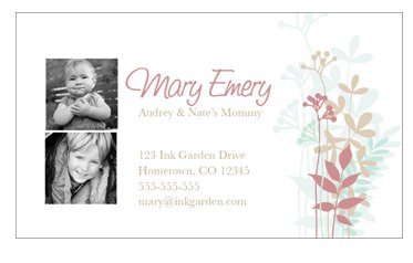 Mommy Cards 50 Business Card Magnets $2
