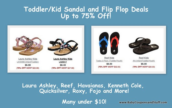 6pm.com Kid Sandal Deals