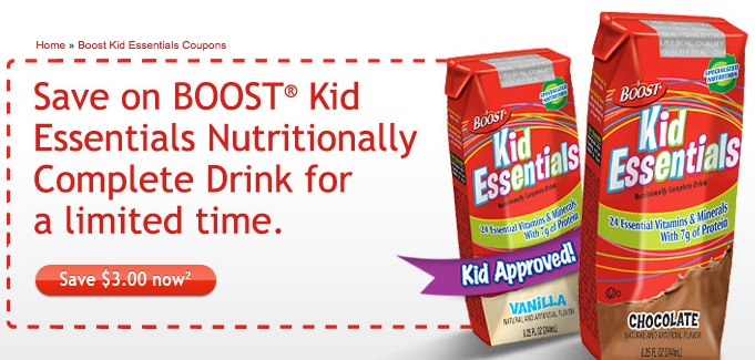 Boost Kid Essentials Coupons | BOOST® Kid Essentials