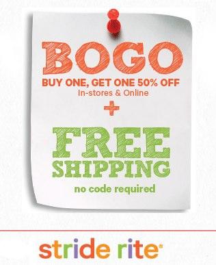 Stride Rite BOGO + Free Shipping